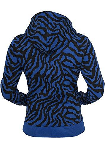 Ladies Zebra Ziphoody Royal/Black