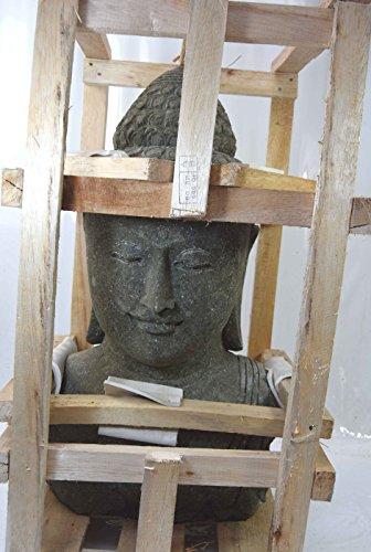 Buddha Kopf 80cm aus Lavagestein Feng Shui Lounge Buddha Lavastein