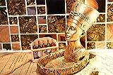 HJX888 Cenicero Cleopatra Resina artesanía decoración Decoración del hogar Sala de Estar Cenicero Faraón Egipcio,Queen