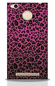 Pink Tiger Skin -Mobie Back Case Cover For Redmi 3S Prime