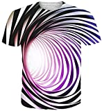 uideazone Mens 3D Dinsouar Rundhals T-Shirt Sommer Cool T-Shirt Tops