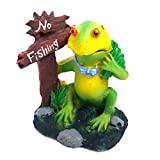Aquarium Decoration Items (Frog Toy With Air Bubble System) Sold By Vasuworld