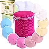 Baby Bliss® Premium-Stilleinlagen Waschbar & Konturiert, 14er-Pack + Wäschezylinder, Extra Weich, Super Saugstark und Auslaufsicher, Wiederverwendbar, Atmungsaktiv und Sanft zur Haut (Mittel - 10 cm)