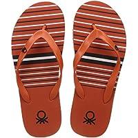 United Colors of Benetton Men's  Orange Flip-Flops - 9 UK/India (43 EU) (17A8CFFPM324I)