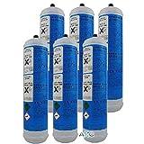 6 Bombole usa e getta co2 per erogatori acqua frizzante 600gr