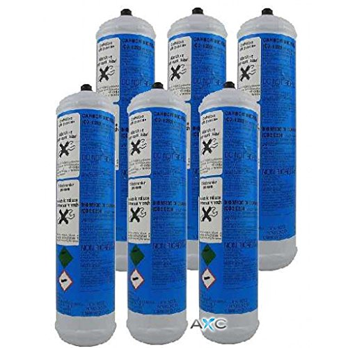 6 Disposable CO2 Cylinders for Sparkling Water Dispensers 600 g