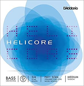 D'Addario Helicore 3/4 Scale Light Tension Orchestral Bass Single G String