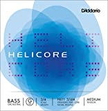 D\'Addario Bowed Corde seule (Sol) pour contrebasse orchestre D\'Addario Helicore, manche 3/4, tension Medium