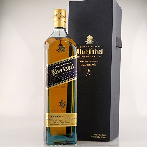 Johnnie Walker Blue Label Blended Scotch Whisky mit Geschenkverpackung (1 x 1 l) (Blue 1 Label Liter)