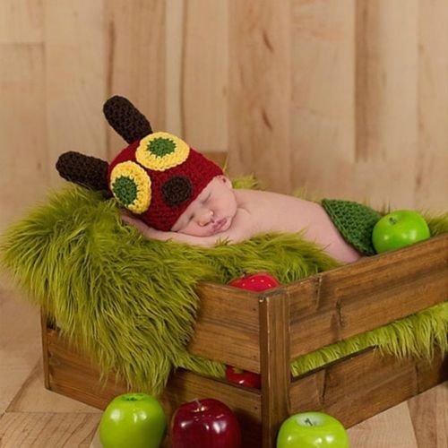 Kostüm Cap 2 - Häkelkostüm für Neugeborene, für Mädchen und Jungen, für Fotoaufnahmen geeignet, 2 Stück