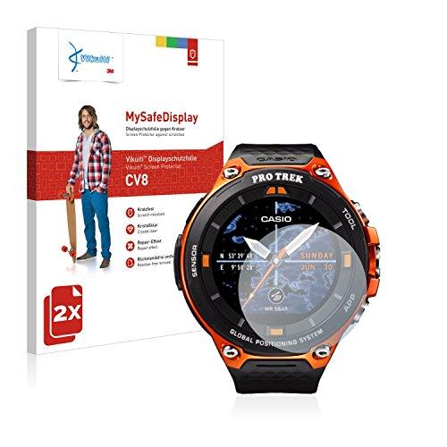 Vikuiti 2X Bildschirmschutzfolie CV8 von 3M kompatibel mit Casio WSD-F20 Schutzfolie Folie
