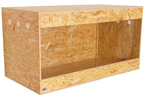 OSB Holzterrarium mit Seitenbelüftung 120x60x60cm