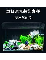 JXC-Décoration d'aquarium de poissons d'aquarium animaux aquatiques simulation,une décoration