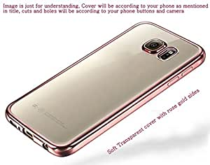 Soft Transparent back cover for Samsung Galaxy Note 2 Rose Gold