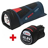 Bosch LED Akkulampe GLI 10,8 Power LED + 1x Akku 10,8 V 1,5AH 0601437U00 + 1600Z0002W