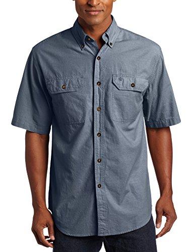 Carhartt Fort Solid kurzärmliges Shirt, Denim Blue, Chambray, Größe XXL (S200.499.S008)