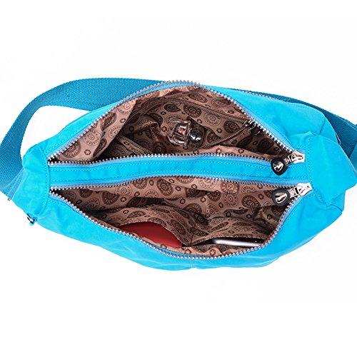 Outreo Umhängetasche Kleine Schultertasche Leichter Wasserdicht Designer Messenger Bag Sporttasche Mode Taschen Damen Kuriertasche für Mädchen Blau 3