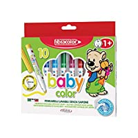Fibracolor Baby Color Pack of 10 Superwashable Safety Tip Markers with Water Only