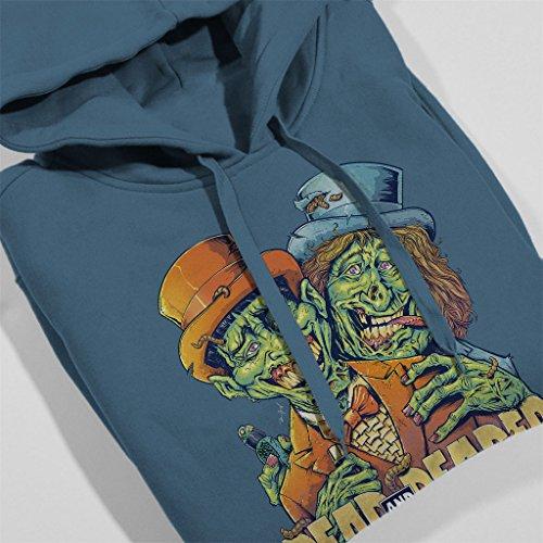 Zombie Dumb And Dumber Dead And Deader Women's Hooded Sweatshirt Indigo Blue