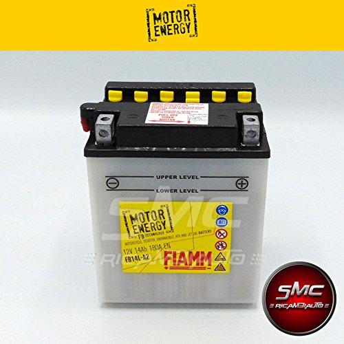 BATTERIA MOTO FIAMM MOTOR ENERGY YUASA YB14L-A2 14 Ah 150A + LIQUIDO 7904450
