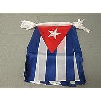 GUIRNALDA 12 metros 20 BANDERAS de CUBA 45x30cm - BANDERA CUBANA 30 x 45 cm - BANDERINES - AZ FLAG