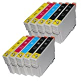 10 kompatible Tintenpatronen für Epson T1811 T1812 T1813 T1814 XL-Inhalt - 4x Schwarz je 18ml, 2x je C,M,Y je 18ml -- Druckerpatronen für Epson Expression Home XP30 XP102 XP202 XP205 XP302 XP305 XP402 XP405