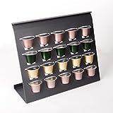 SO-TECH® Linero MosaiQ Kapselhalter Graphitschwarz für 20 Nespresso Kaffee Kapseln passend für Linero Nischensystem