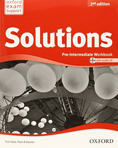 Solutions. Pre-intermediate. Workbook and Audio cd Pack (Miscellaneous) - 9780194553667 (Solutions Second Edition)