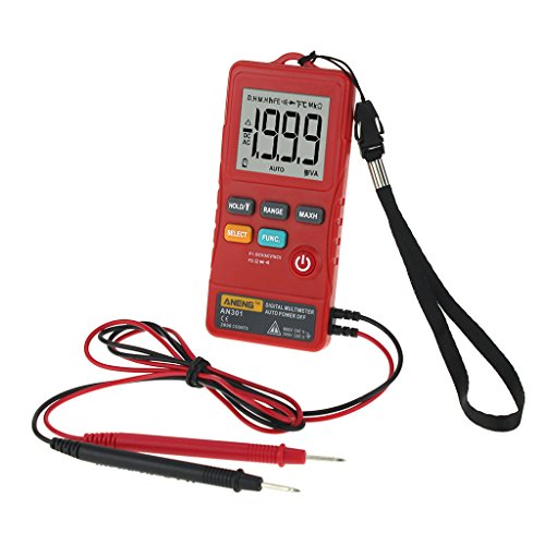Besttse Mini multímetro digital AC DC Voltímetro Resistencia de Voltaje Medidor con LED
