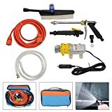 PetHot 12V 100W Portable High Pressure Sprayer Washer Cleaner Wash Water Pump Kit for Car Auto Motorcycle