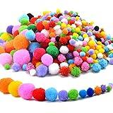 Hendevl Filzkugeln Bunt, ca.1000stk Bommeln Bunte Flauschigen Bälle mit Glitzer-Pompons Basteln, Dekorationen & Bastelarbeiten für Kinder
