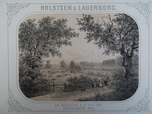 Titelblatt. Lithographie bei Baerentzen von 1859. 18 x 25 cm. (Mit Bordüre 22 x 29 cm).