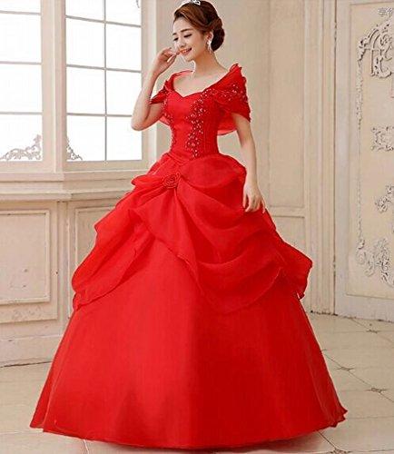 bai Moderne Brautkleid Braut Brautkleid Schulter Dünnes Kleid Kleid Spitze Brautkleid,Ein,XXL