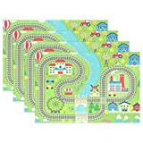 GOODSTHING napperon, Lovely City Train Track Placemat Table Mat 12' x 18' Polyester...