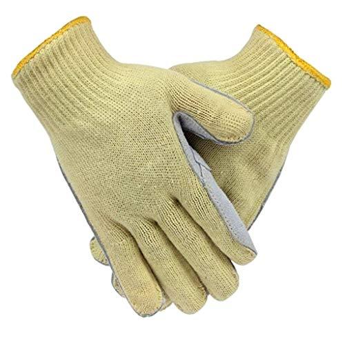 XHCP Hochtemperaturbeständige Handschuhe Industrieller Arbeitsschutz Verschleißfest Flexibel Stichfest Schnittfest Verschleißfest Leder Handfläche Brandschutz Hitzebeständig Verbrühungsschutz Fün