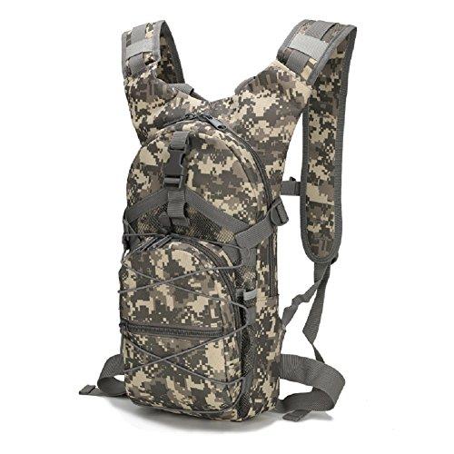 Z&N Backpack Militärfans Tarnung wasserdichtes Oxford Tuch tragbarer taktischer Rucksack Outdoor-Reittasche Campingrucksack Wanderrucksack 15L C