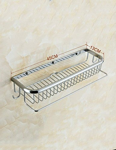 XQY Hohe Qualität Küche Badezimmer Regal, alle Kupfer Quadrat Korb Toilettenregale Badezimmer Hardware Anhänger Platz Korb Ecke Rahmen Sicherstellung der Qualität, Handtuchhalter,4