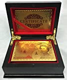 NMIT 50 Pound SET OF UNIQUE LUXURY DECK OF 24K GOLD PLATED FLEXIBLE PLAYING CARDS FULL POKER DECK 99.9% PURE GOLD PLATED - WITH BOX