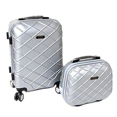 Lollipops [P9471] - Set valise trolley ABS + vanity 'Lollipops' argenté - 50x35x23