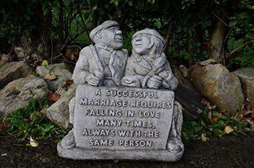 BON MARIAGE COUPLE MAIN EN PIERRE POUR DÉCORATION DE JARDIN STATUE/SCULPTURE