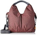 LÄSSIG Baby Wickeltasche nachhaltig inkl. Wickelzubehör nachhaltig produziert/Green Label Neckline Bag, rot/burgundy