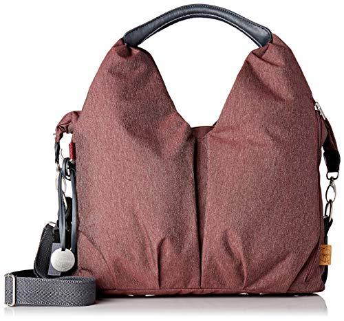 LÄSSIG Baby Wickeltasche nachhaltig inkl. Wickelzubehör/Green Label Neckline Bag, Rot (Burgundy)