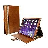 Alston Craig Vintage Vintage Echt Leder Hülle Tasche [Mit Schlaf-Funktion, Klappständer] Für Apple iPad Pro 10.5 - Braun