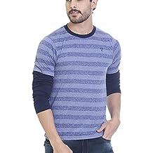 Vudu Men's Slim Fit Casual T-Shirt (TA0042-M)