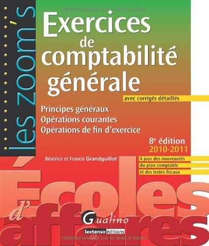 Exercices de comptabilité générale