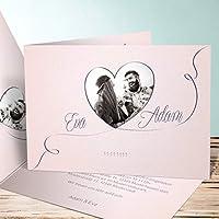 Ausgefallene Einladungskarten Hochzeit, Leichtigkeit 15 Karten, Horizontale  Klappkarte 148x105 Inkl. Weißer Umschläge,