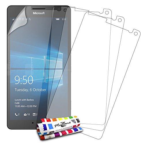 Protektoren Bildschirm für Microsoft Lumia 950XL, 3Displayschutzfolien [UltraClear] [transparent] + Eingabestift und Reinigungstuch Muzzano® angeboten-Der Schutz Display Ultimative und nachhaltige für Ihr Microsoft Lumia 950XL