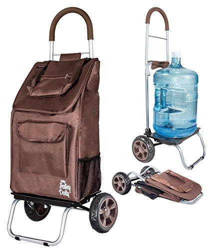 dbest products Trolley Dolly, braun Einkaufstasche Lebensmittels faltbar Warenkorb