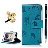 iPhone SE/ iPhone 5S/ iPhone 5 Case, YOKIRIN Full Body Premium PU Leather Wallet Folio Case Stylish Patterns Embossed Shock-Absorption Scratch-Resistant Cover Magnetic Clasp Stand Card Cash Holders For iPhone SE/ iPhone 5S/ iPhone 5