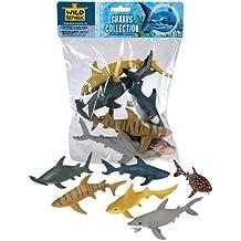 Wild Republic 64577 - Colección de juegos tiburones, 6 partes